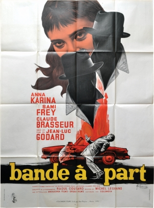 Band of Outsiders [Bande a Part] (Original French poster for the 1964 film). Jean-Luc Godard,...