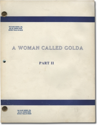 A Woman Called Golda: Part II (Original teleplay script for the 1982 television movie). Alan...