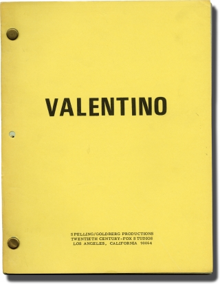 The Legend of Valentino [Valentino] (Original teleplay script for the 1975 television movie)....