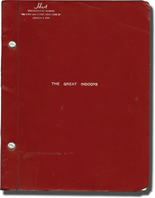 The Great Indoors (Original script for the 1965 play). Irene Kamp, playwright