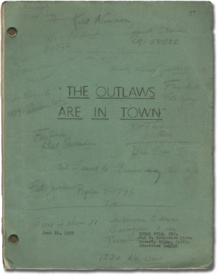 The Desperados are in Town [The Outlaws are in Town] (Original screenplay for the 1956 film)....