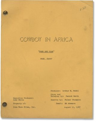 Cowboy in Africa: Fang and Claw (Original teleplay script for the 1967 episode). Andrew...