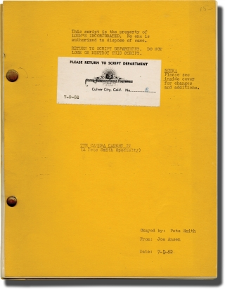 Archive of scripts for Pete Smith short films, 1951-1954: The Camera Caught It, Bandage Bait, and...