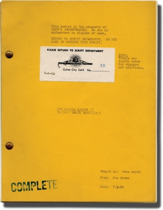 Archive of scripts for Pete Smith short films, 1951-1954: The Camera Caught It, Bandage Bait, and Bargain Madness [Dollar Day]
