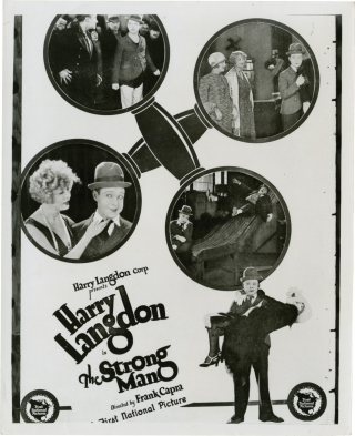 The Strong Man (Original photographic proof trial poster from the 1926 film). Frank Capra, Hal...
