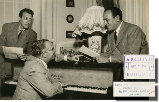 Photograph of Cuban composer Osvaldo Farres (Original photograph from 1951). Osvaldo Farres, subject