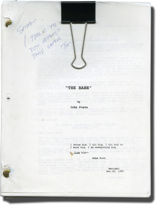 The Babe (Original screenplay for the 1992 film). Arthur Hiller, John Fusco, Kelly McGillis John...