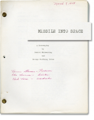 Space Master X-7 [Missile into Space] (Original screenplay for the 1958 film). Edward Bernds,...