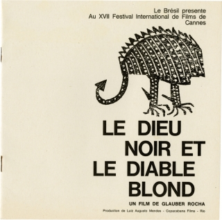 "1964 Cannes Film Festival promotional folder and program for The World of Henry Orient, including programs for Black God, White Devil, The Price of Victory, Li mali mestieri, and ""1, 2, 3..."""