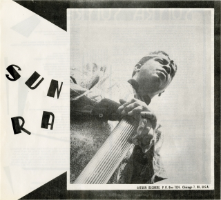 Original Saturn Research flyer for Sun Ra, circa 1970s. Sun Ra