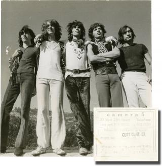 Two original photographs of The Rolling Stones with Mick Taylor, circa 1969-1974. The Rolling...