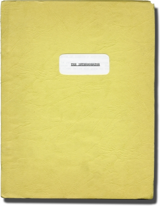 The Interrogator (Archive of three original screenplays for an unproduced film). Michael Winner,...