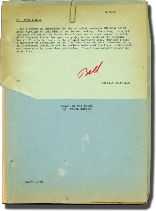 The Boat Sails After Midnight (Original screenplay for an unproduced film). Fritz Habeck, Dalmont...