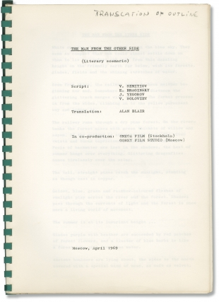Chelovek s Drugoy Storony [The Man From the Other Side] (Original treatment script for the 1972...