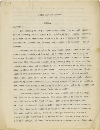 Archive of three scripts for Crime and Punishment