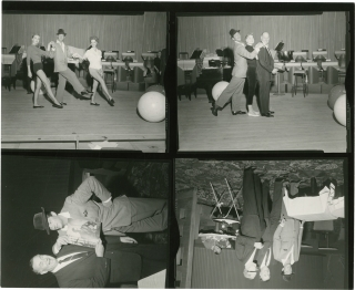 Dean Martin in Las Vegas, 1959 (Original contact sheet with four images). Dean Martin, Guy...