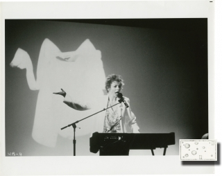 Home of the Brave: A Film by Laurie Anderson (Two original photographs from the 1986 film). Laurie Anderson, writer director, performer.