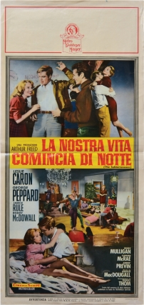 La Nostra Vita Comincia di Notte [The Subterraneans] (Original Italian poster for the 1960 film)....