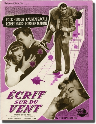 Written on the Wind [Ecrit sur du Vent] (Vintage French film program from the 1956 film). Douglas...