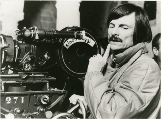Andrei Tarkovsky on the set of Nostalghia [Nostalgia]
