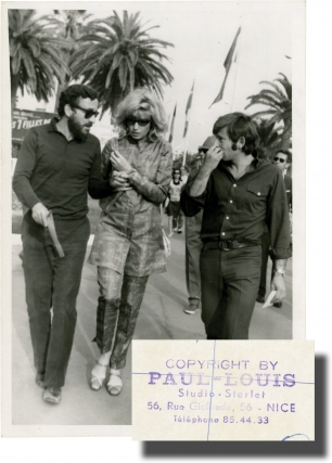 Louis Malle, Monica Vitti, and Roman Polanski at the 1968 Cannes Film Festival (Original...