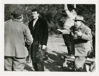 The Elusive Corporal (Original photograph from the set of the 1962 film). Jean Renoir, Jacques...