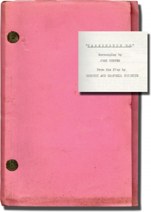 Carrington V.C. [Court Martial] Original screenplay for the 1954 film). Anthony Asquith, John...
