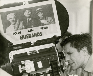 Husbands (Original on the set photograph from the 1970 film). John Cassavetes, Peter Falk Ben...