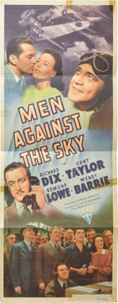 Men Against the Sky (Original US insert poster for the 1940 film). Leslie Goodwins, Nathanael...