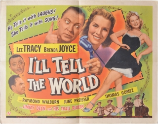 I'll Tell the World (Original US half sheet poster for the 1945 film). Leslie Goodwins, Lester...