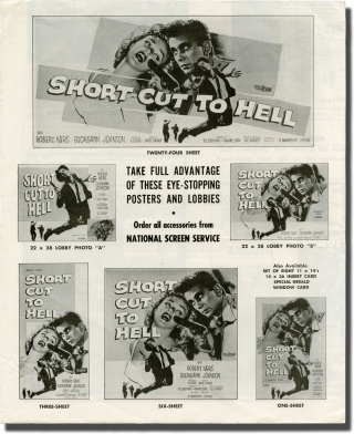 Short Cut to Hell (Original pressbook for the 1957 film). James Cagney, Graham Greene, Raphael...