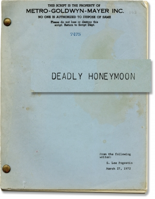 Nightmare Honeymoon [Deadly Honeymoon] (Original screenplay for the 1974 film). Elliot...