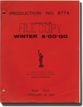 Winter A-Go-Go (Original screenplay for the 1965 film). Richard Benedict, Bob Kanter, Reno...