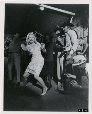 The Misfits (Original photograph from the set of the 1961 film). John Huston, Arthur Miller,...
