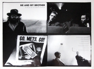 Me and My Brother (Original Poster for the 1969 film). Robert Frank, Peter Orlovsky Allen Ginsberg, Sam Shepard, Joseph Chaikin Julius Orlvosky, Christopher Walken, screenwriter director, starring poems, screenwriter, starring.