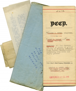 Archive of books and personal material belonging to writer Arline De Haas
