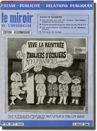 le miroir de l'information (Collection of four French press relations magazines). Andre Depernon,...