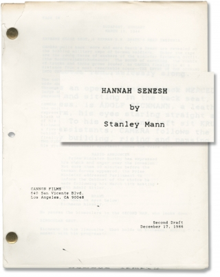 Hanna's War [Hannah Senesh] (Original screenplay for the 1988 film). Menahem Golan, Stanley Mann,...