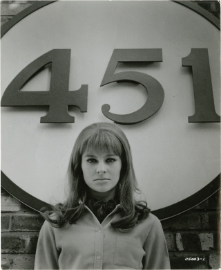 Fahrenheit 451 (Photograph of Julie Christie from the set of the 1966 film). Francois Truffaut,...