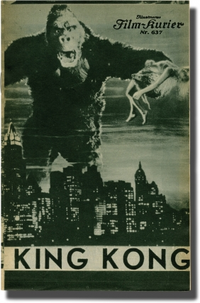 King Kong (Original program for the 1933 film). Merian C. Cooper, Ernest B. Schoedsack, Ruth Rose...