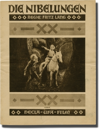Die Nibelungen: Siegried and Kriemhild's Revenge (Original program for the 1924 film). Fritz...