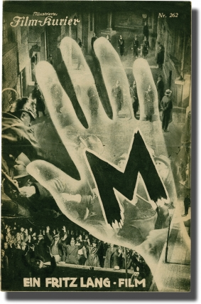 M (Original Austrian Film Program). Fritz Lang, Thea von Harbou, Peter Lorre, screenwriter...