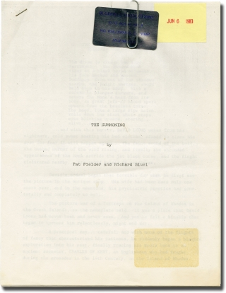 The Summoning (Original treatment script for an unproduced film). Richard Bluel, Pat Fielder,...