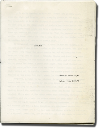 Baglady (Original treatment script for an unproduced film). Lindsay Flickinger, screenwriter