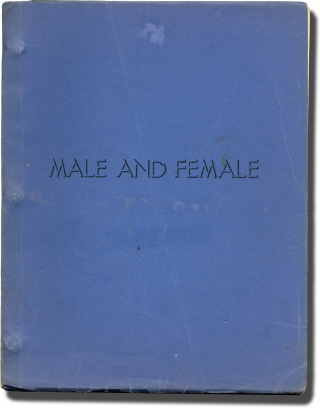 Male and Female (Original screenplay for an unproduced film). Daniel Defoe, Maxwell Shane, story,...