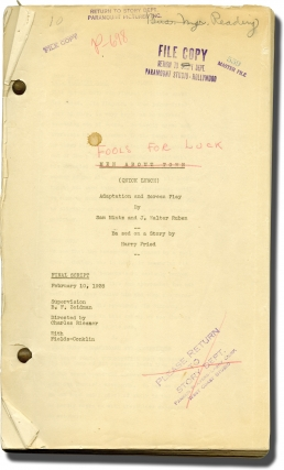 Fools for Luck [Quick Lunch] (Original screenplay for the 1928 film). Charles Reisner, George...