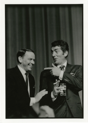 Original photograph of Frank Sinatra and Dean Martin, circa 1960s. Frank Sinatra, Dean Martin, Jim Marshall, subjects, photographer.