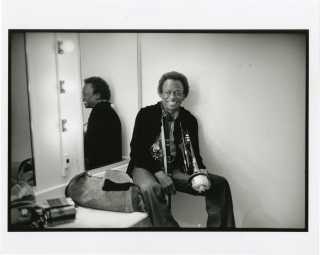 Original photograph of Miles Davis, 1971. Miles Davis, Jim Marshall, subject, photographer
