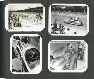 An album of over 20 years of photographs of open wheel auto racing