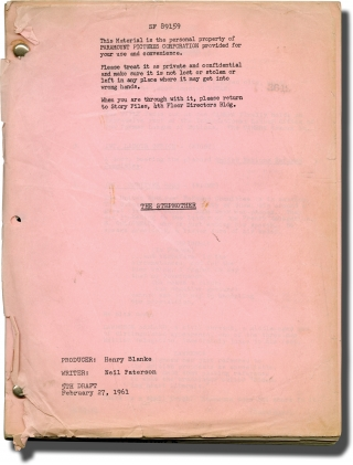 The Stepmother (Original screenplay for an unproduced film). Neil Paterson, Henry Blanke,...